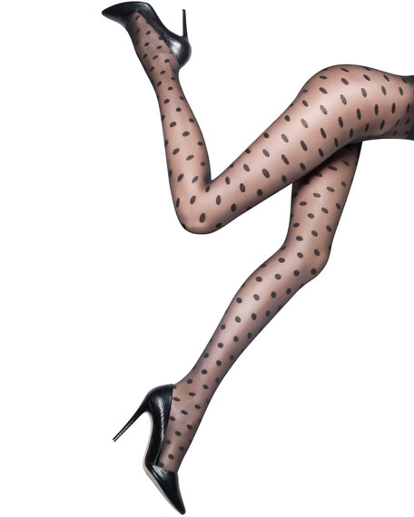 Polka-Dot Sheer Tights by Pretty Polly