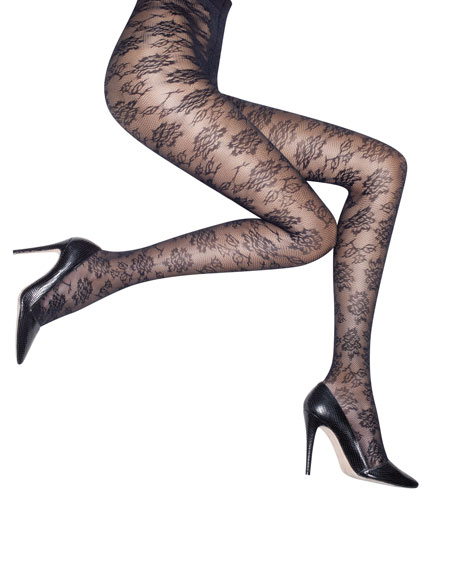 Floral Lace Tights by Pretty Polly