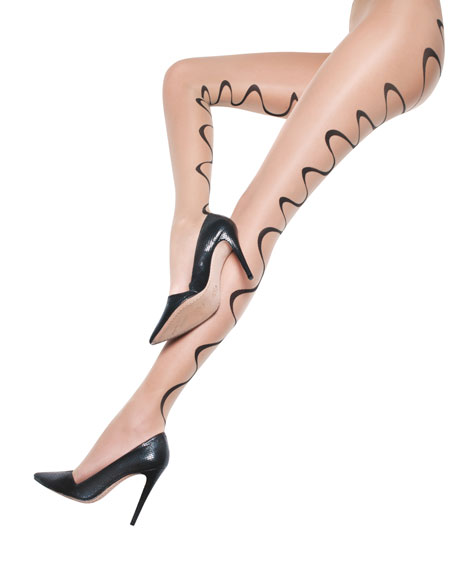 Swirl Sheer Tights by Pretty Polly