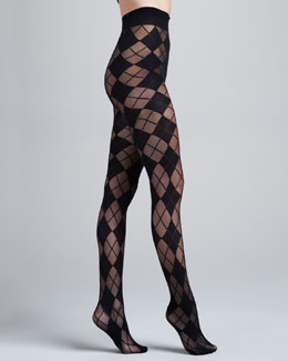 Alice + Olivia Argyle Semisheer Tights by Pretty Polly