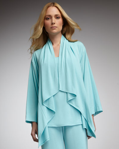 Natori Jersey Waterfall Cardigan