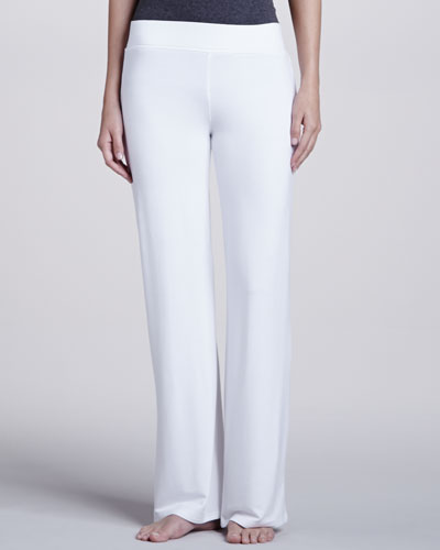 Natori French Terry Lounge Pants, White