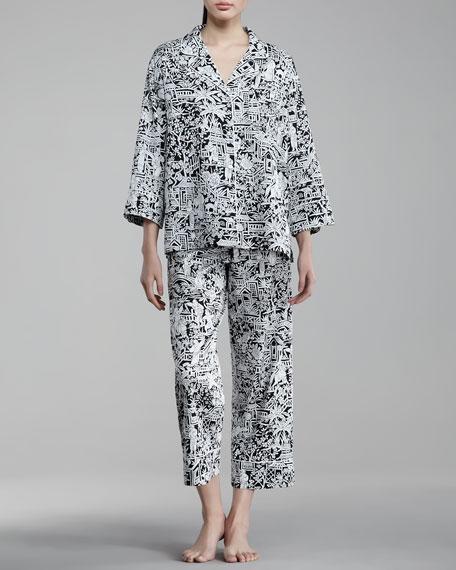Halong Notch-Collar Pajamas