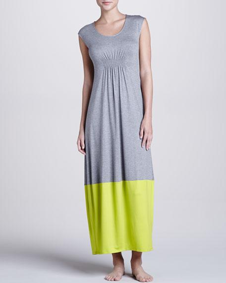 Maricar Jersey Gown, Heather/Green