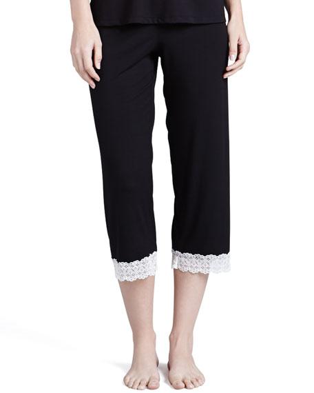 Mora Crop Pants, Black/Ivory