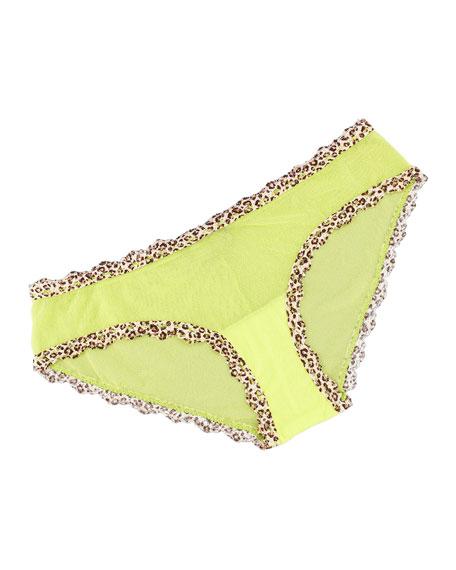Celine Low-Rise Hotpants, Neon Green