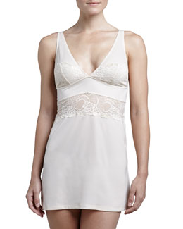 Underella by Ella Moss Madison Metallic Lace Chemise