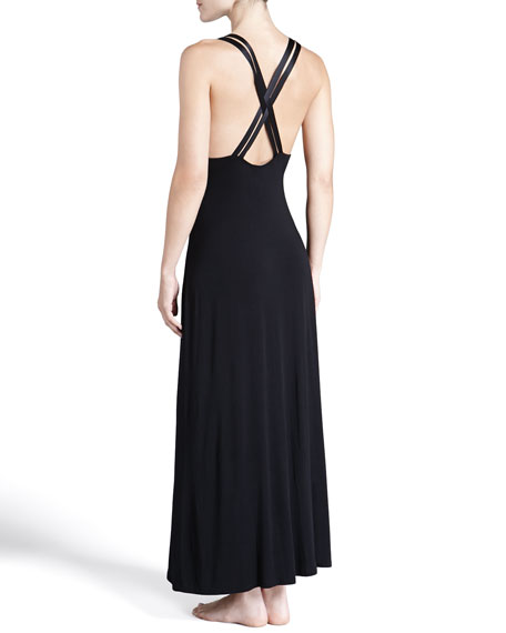 All I Want Is You Strappy-Back Lace-Inset Gown