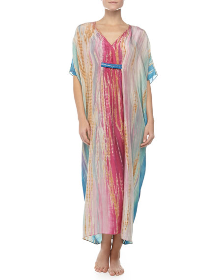 Tie-Dye Silk Caftan