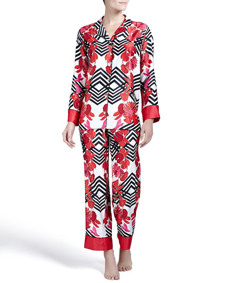 Piccadilly Satin Pajama Set