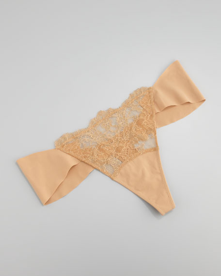 Allure Lace Thong, Ivory