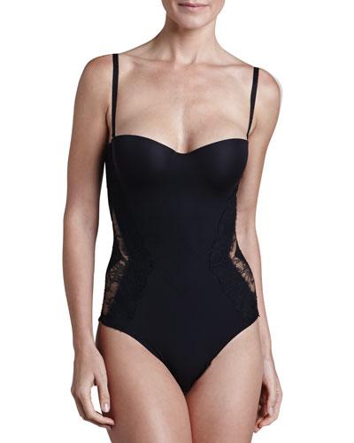 La Perla Allure Convertible Bodysuit, Black
