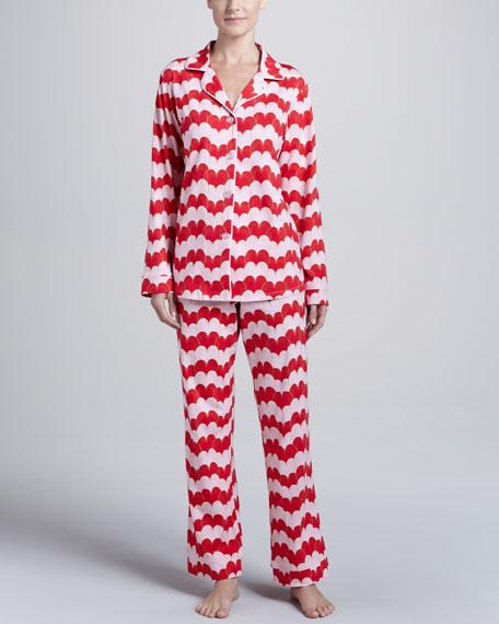 Heart-Print Classic Pajamas