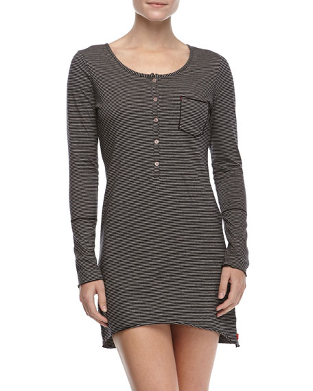 Coy Long-Sleeve Sleepshirt