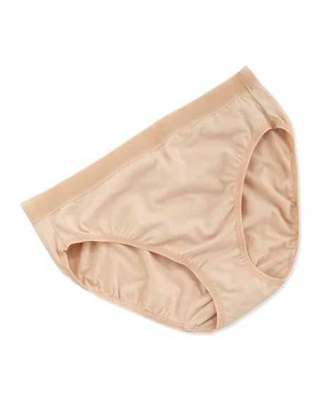 Suede Cotton Hi-Cut Panties