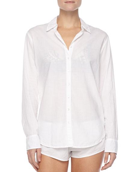 Poplin Button-Down Sleep Shirt