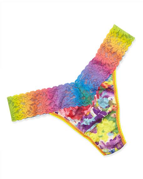 Impressionist Tie-Dye Original-Rise Thong