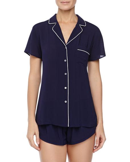 Classic Short Pajama Set, Navy