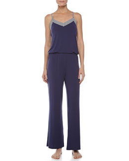 Splendid Intimates Low-Back Long Romper, Splendid Navy