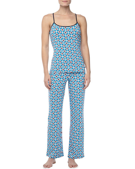 Diamond-Print Camisole Pajama Set