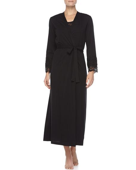 Heirloom Long Robe, Black