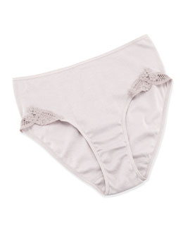 Hanro Filipa Full Briefs, Rose Gray