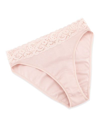 Hanro Luxury Moments High-Cut Bikini Briefs, Pale Mauve