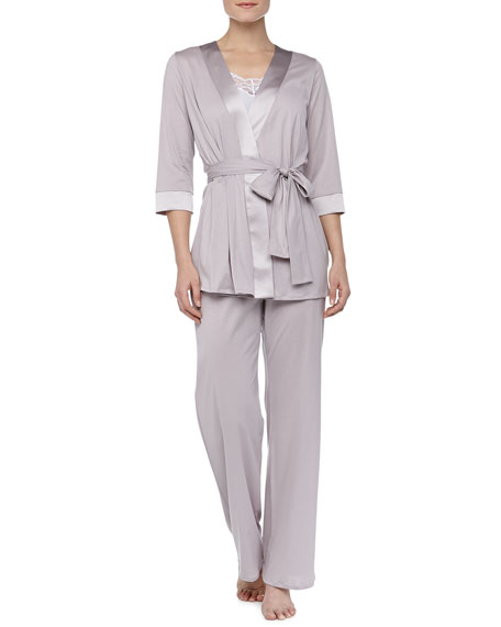 Fernanda Long Pajama Pants, Rose Gray