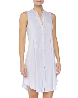 Hanro Sleeveless Shirtwaist Nightgown, Blue Glow