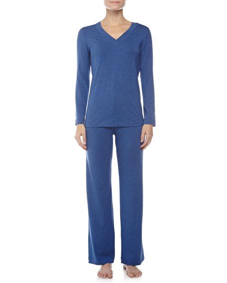 Champagne Pajama Set, Vibrant Blue