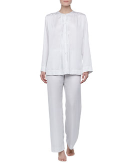 Donna Karan Laundered Satin Pajama Set, Dew