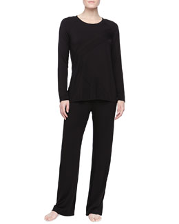 Donna Karan Liquid Jersey Pajama Set, Black