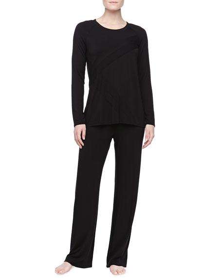 Liquid Jersey Pajama Set, Black