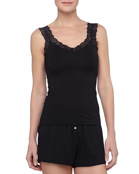 Bottom Drawer Shorty Pajamas Set, Black