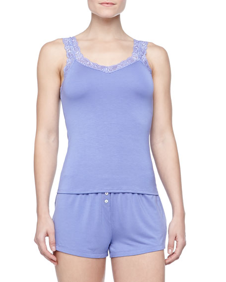 Bottom Drawer Shorty Pajamas Set, Lilac