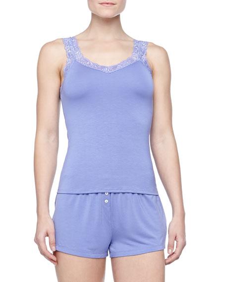 Bottom Drawer Shorty Pajamas Set, Lilac