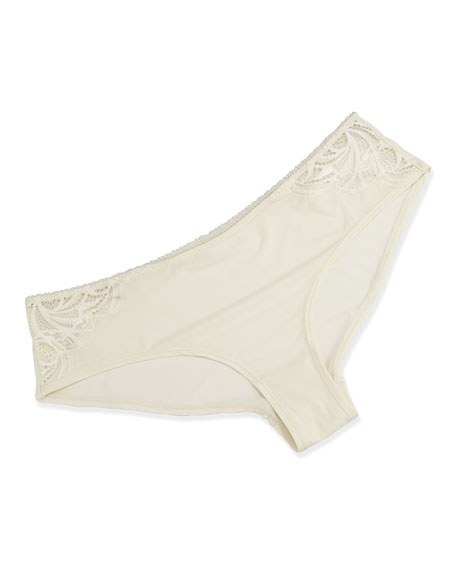 Simona Lace Boy Shorts, Ivory