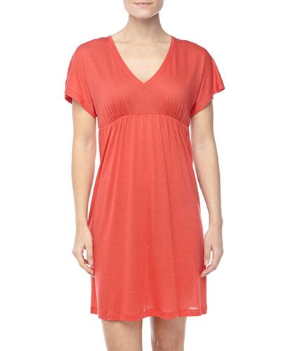Hanro Pilar Short-Sleeve Jersey Gown