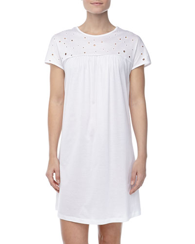 Hanro Marisa Eyelet Gown, White