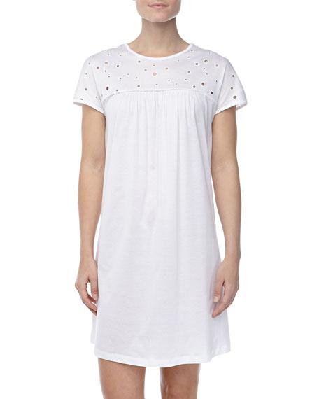 Marisa Eyelet Gown, White