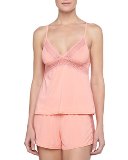 La Perla Fiorenza Cross-Back Lace-Trim Camisole