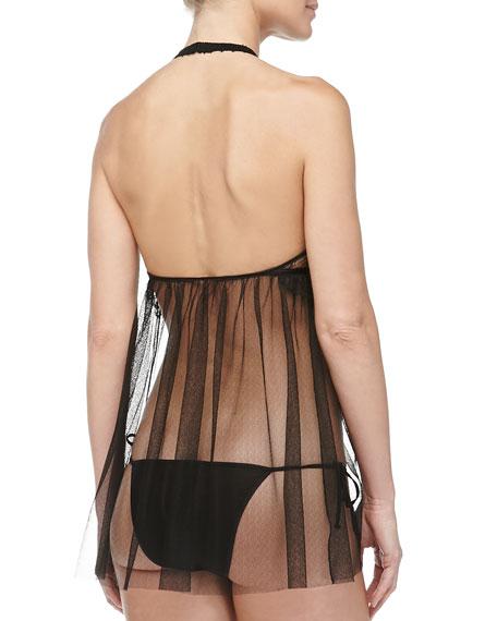 Maharani Lace Babydoll With Bikini, Black