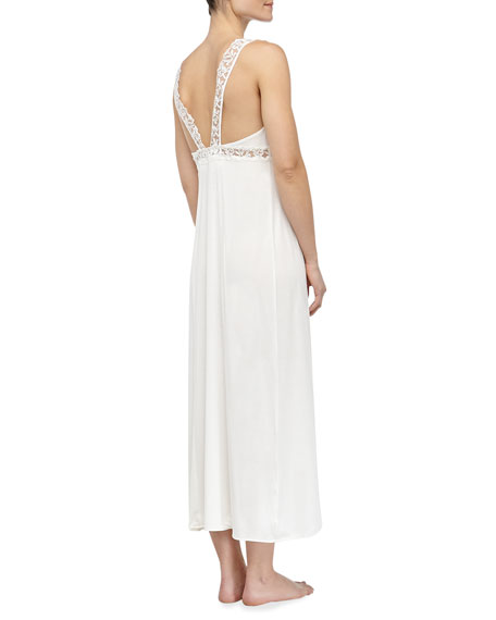 Niloufer Long Lace Tank Gown, Natural