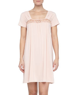La Perla Niloufer Lace-Trim Sleep Gown