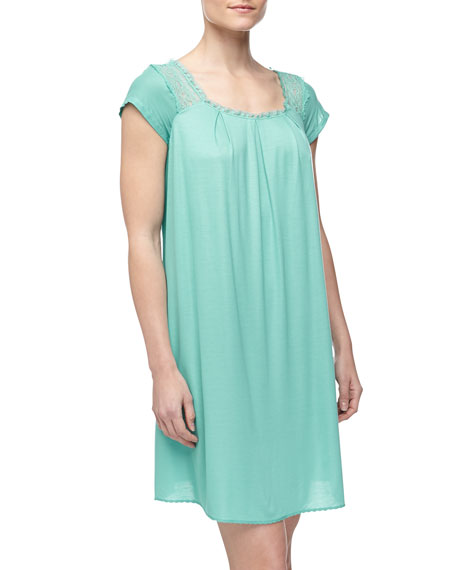 Laila Short Gown, Green