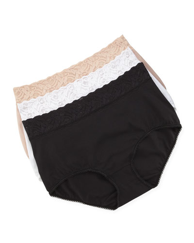 Wacoal Cotton-Suede Full-Cut Briefs