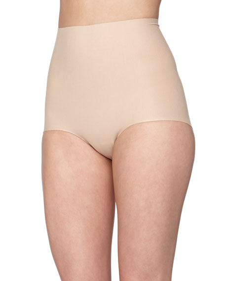 Seamless Cotton Control Briefs, True Nude