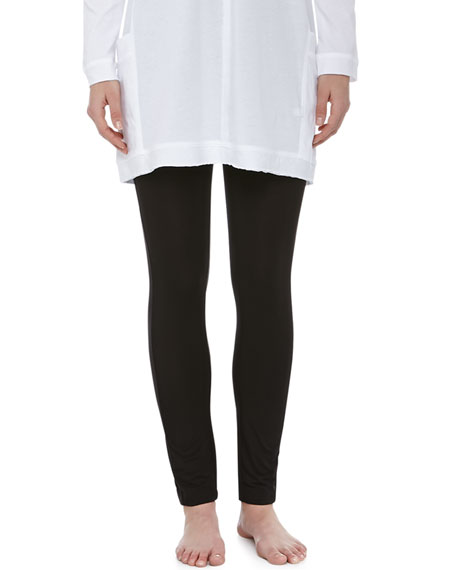 Liquid Jersey Basic Leggings, Black