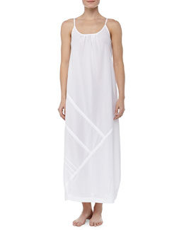 Donna Karan Cotton Batiste Long Nightgown, White