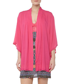 Josie Chic Trimmed Happy Wrap, Cosmo Pink